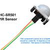 HC-SR501 Passive Infrared motion sensor.  This contains all the circuitry to analyze and detect.  The trigger output is ready to use in an application without Arduino.